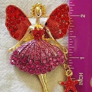 Brand new in package Betsey Johnson fairy brooch